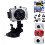 กล้องติดหมวก Action Camera HD 720P สีขาว