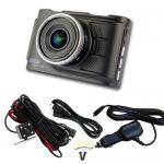 กล้องติดรถยนต์ หน้า+หลัง all mate รุ่น AM2000 สีดำ