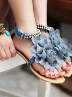 รองเท้าแฟชั่นประดับดอกไม้แฟชั่น