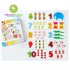 จิ๊กซอว์ไม้ตัวเลข 1-10 พร้อมบัตรภาพ ของเล่นไม้เสริมพัฒนาการ