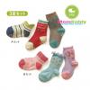 ถุงเท้าเด็กลายสีสัน มีพื้นกันลื่น 001 ขนาด 12-15cm เซต 3 คู่