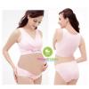 เสื้อชั้นในคนท้องเปิดให้นมผ้ายืด ไม่มีโครง แนวสปอร์ตบรา สีชมพู Enjoy Preg - 25082