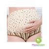 กางเกงในคนท้องพื้นขาวลายกลมจุด สีน้ำตาล - 0261