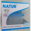 กระปุกแบ่งนม Natur 3 ช่องแบบหมุนฝาเกลียว BPA FREE สีฟ้า