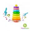 ห่วงเรียงซ้อนมีเสียงกรุ๊งกริ๊ง Musical Rainbow Tower
