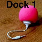 ลำโพง Audio Dock สีชมพูเข้ม