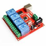 4-Channel 12V USB Relay Board Module Controller (USB Controlled Module)