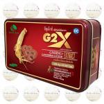 G2X จีทูเอ็กซ์ โสมเกาหลีผสมเห็ดหลินจือ มีวิตามินและแร่ธาตุต่างๆ บำรุงร่างกายและสมอง