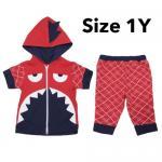 ชุด เสื้อกางเกง เด็ก Baby Town ฉลาม (Size 1Y) แดง