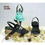 รองเท้าส้นเตารีดแฟชั่น(สีดำ)