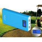 แบตสำรอง Power Bank GOLF LCD 15600 mAh สีฟ้า