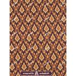 ผ้าลายไทย no.0011 สีมังคุด
