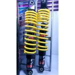 โช้คอัพหลังคู่ YSS รุ่น Top Up 340 สำหรับ Honda Wave สี ดำ/เหลือง