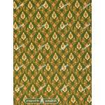 ผ้าลายไทย no.0041 สีเขียวตอง