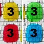 เจลทําความสะอาด (แพ็ค 12 ชิ้น) ชิ้นละ 25 ชมพู-3 เขียว-3 ฟ้า-3 เหลือง-3