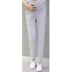 กางเกงคนท้องขายาวลายทาง สีน้ำเทา LP1703 : Size 2XL