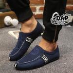 รองเท้าผ้าแฟชั่นผู้ชาย สไตล์ Versace (สีน้ำเงิน)