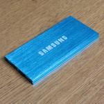 แบตสำรอง Power bank 20000 mAh Samsung สีฟ้า
