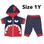 ชุด เสื้อกางเกง เด็ก Baby Town ฉลาม (Size 1Y) น้ำเงิน