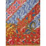 ผ้าถุงแม่พลอย mp0098 แดง-น้ำเงิน