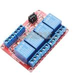 5V 4-Channel Relay High/Low Level Trigger Relay Module (Red PCB)