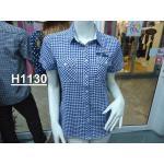 เสื้อเชิ้ตลายสก้อต หญิง H1130