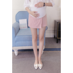 กางเกงกระโปรงขาสั้นคนท้อง SP1708 สีชมพู : Size 2XL