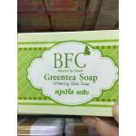 BFC Greentea Soap (สำหรับผิวหน้า ) ลดปัญหาสิว หน้ามัน รับประกันของแท้