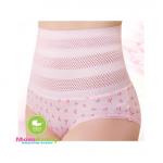 กางเกงในกระชับสัดส่วนหน้าท้องมีตาข่ายระบายอากาศ สีชมพู - 20898