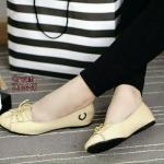 รองเท้าคัชชู ผ้าcanvas (สีครีม)