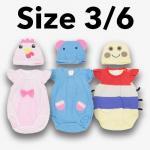 ชุด เด็กอ่อน mon OURS มีหมวก ไก่,ช้าง,หนอน Size 3/6