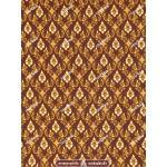 ผ้าลายไทย no.0041 สีน้ำตาล