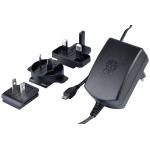 Official Power Supply (5.1V, 2.5A) for Raspberry Pi (สีดำ มีโลโก้ Pi สลักบนหัวปลั๊ก) + 4 Multi-national Heads