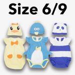 ชุด เด็กอ่อน mon OURS มีหมวก เป็ด,เพนกวิน,หมี Size 6/9