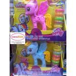 ชุดแป้งโดว์ม้าโพนี่พร้อมอุปกรณ์ตกแต่งม้าโพนี่ตามจินตนาการ มี 2 สี