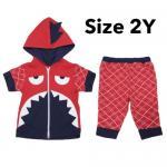 ชุด เสื้อกางเกง เด็ก Baby Town ฉลาม (Size 2Y) แดง