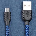สายชาร์จ Micro USB Remax Super Nylon Data - สีน้ำเงิน