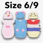 ชุด เด็กอ่อน mon OURS มีหมวก ไก่,ช้าง,หนอน Size 6/9