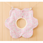 ผ้ากันเปื้อน : สีชมพูลายดอกไม้