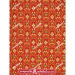 ผ้าลายไทย no.2041 สีแดง