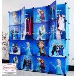 ตู้เสื้อผ้าเด็กอเนกประสงค์ DIY ลายการ์ตูน ลายโฟรทเซนท์ (Frozen)
