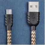 สายชาร์จ Micro USB Remax Super Nylon Data - สีทอง