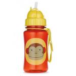 Skip Hop ขวดน้ำดื่มแบบมีหลอดดูด ลายลิง Skip Hop Zoo Straw Bottle