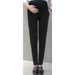กางเกงคนท้องขายาวลายทาง สีดำ LP1703 : Size 2XL