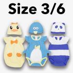 ชุด เด็กอ่อน mon OURS มีหมวก เป็ด,เพนกวิน,หมี Size 3/6