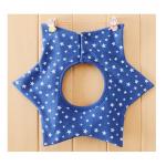 ผ้ากันเปื้อน : สีน้ำเงินลายดาว