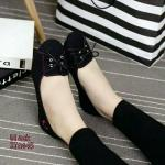 รองเท้าคัชชู ผ้าcanvas (สีดำ)