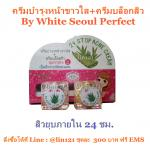 ครีมบำรุงหน้าขาวใส+ครีมบล็อกสิว By White Seoul Perfect
