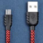 สายชาร์จ Micro USB Remax Super Nylon Data - สีแดง