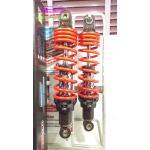 (X-1) โช้คอัพหลังคู่ YSS รุ่น DTG (ไฮบริด) สำหรับ Yamaha X-1 สี ดำ/แดง